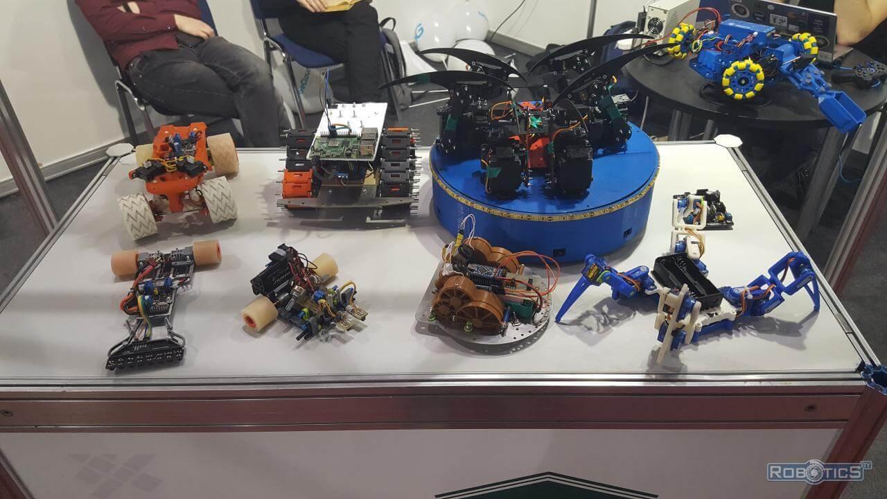 "Robots presented by BNTU at ""TIBO-2021"""