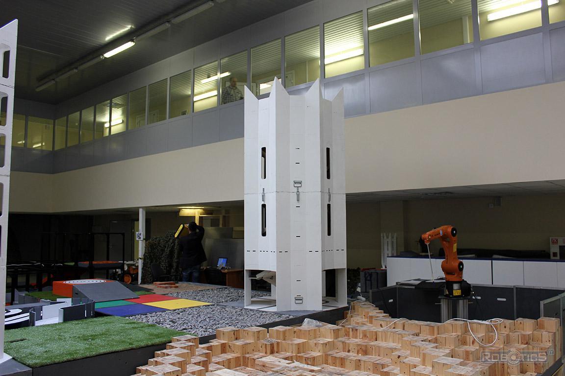 Башня - объемное препятствие полигона ЦНИИ РТК конкурса «Кубок РТК».