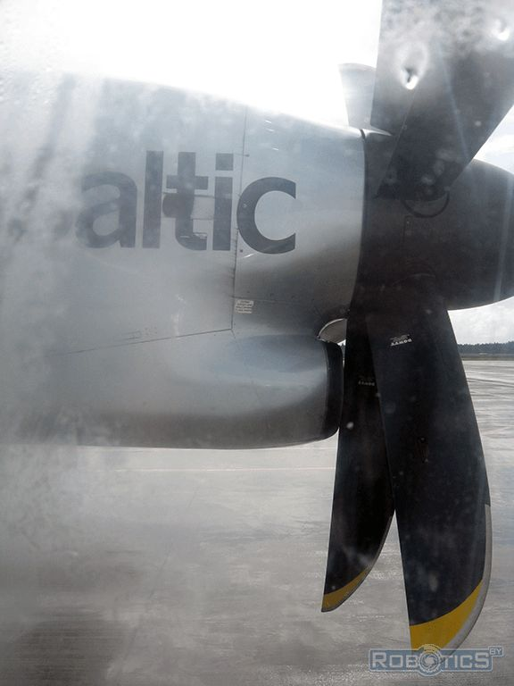 Baltic Airlines Aircraft Engine.
