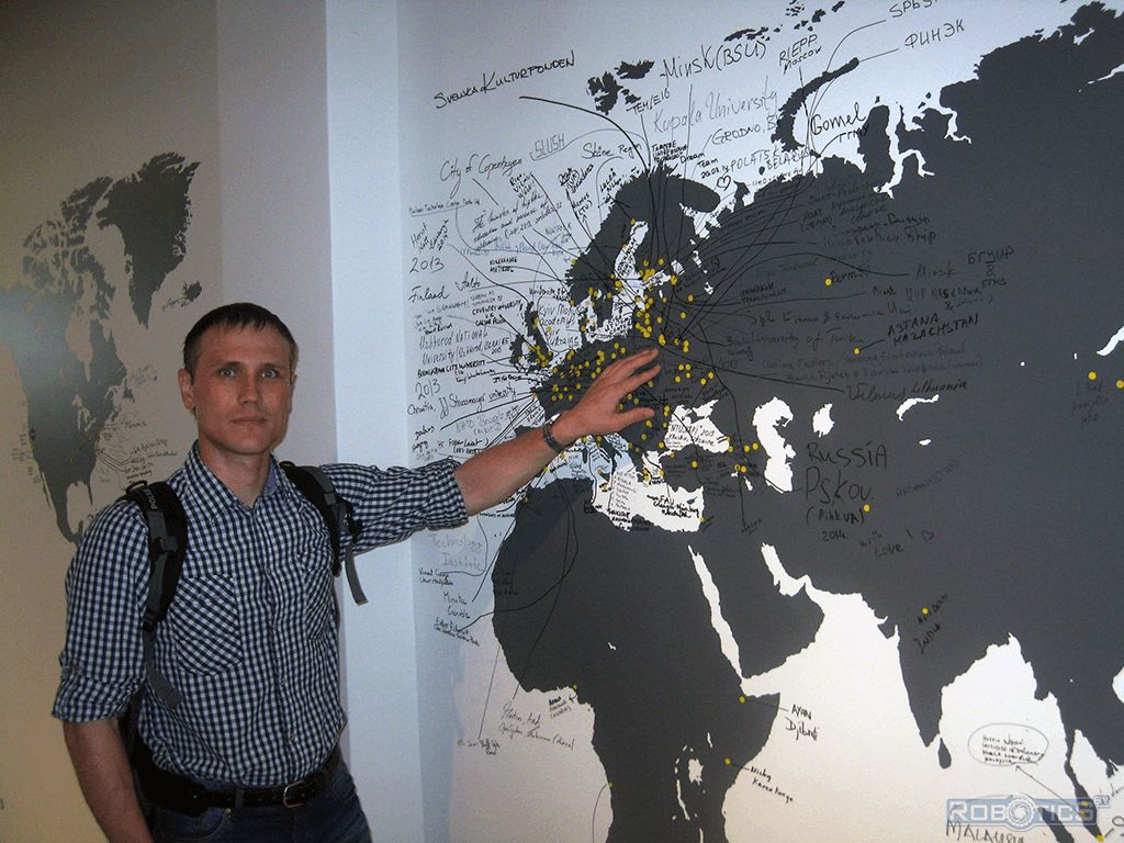 Grigory Prokopovich and map of cooperation «MEKTORY».
