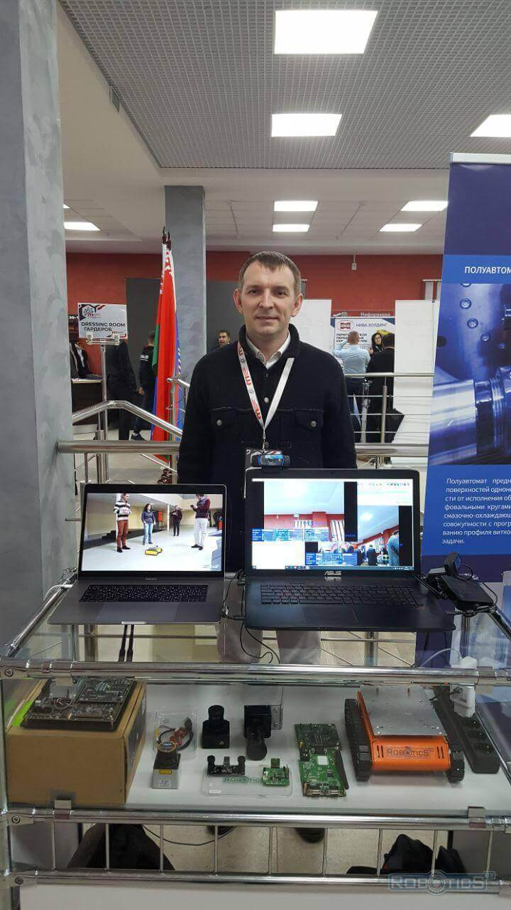 """Exhibition exposition Robotics and cloud technologies at a scientific-practical conference """"Machine building and metalworking"""""""