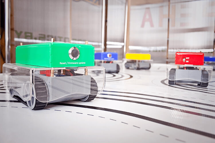 Mobile robots for robo-hockey