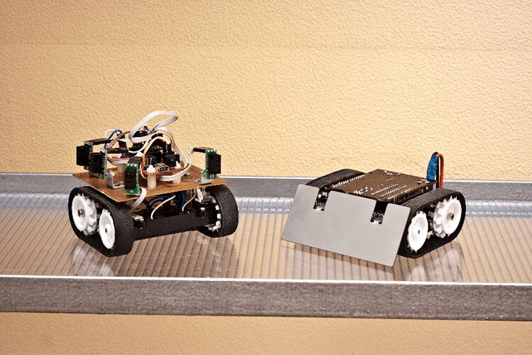 Mobile robots for robo-sumo and Roborace competitions