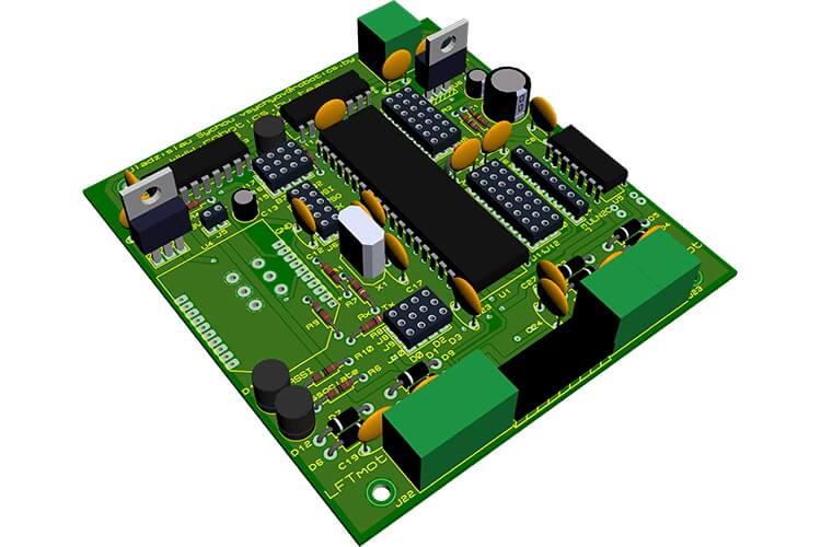 Render of the lower-level control system board