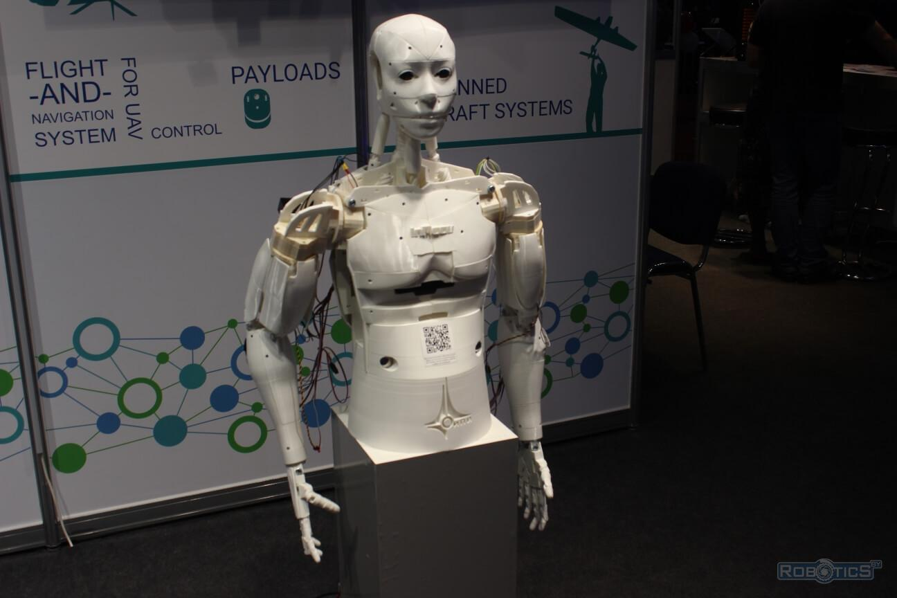 The prototype of an anthropomorphic robot created by 3-D