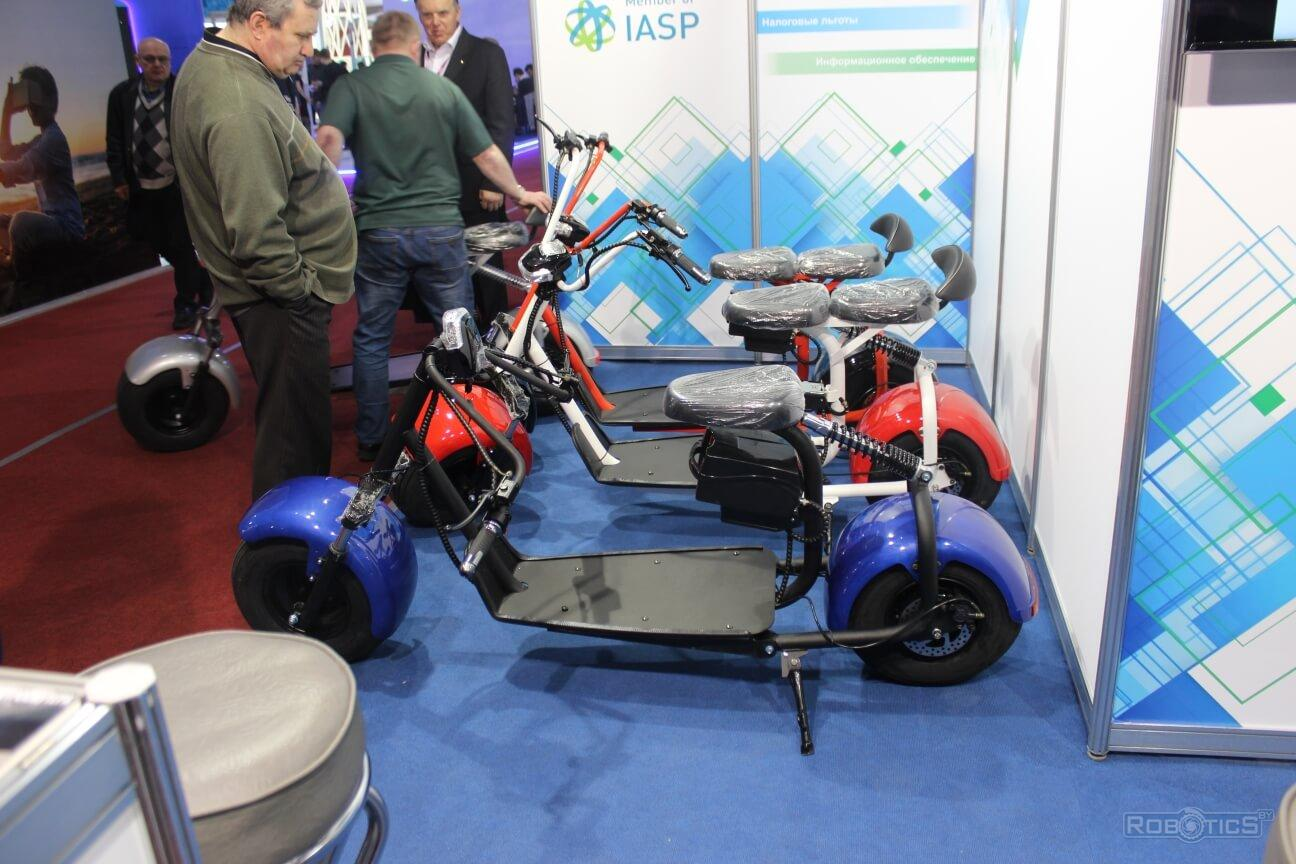 """Laboratory seven"" Ltd scooters at the ""TIBO-2019"" exhibition"