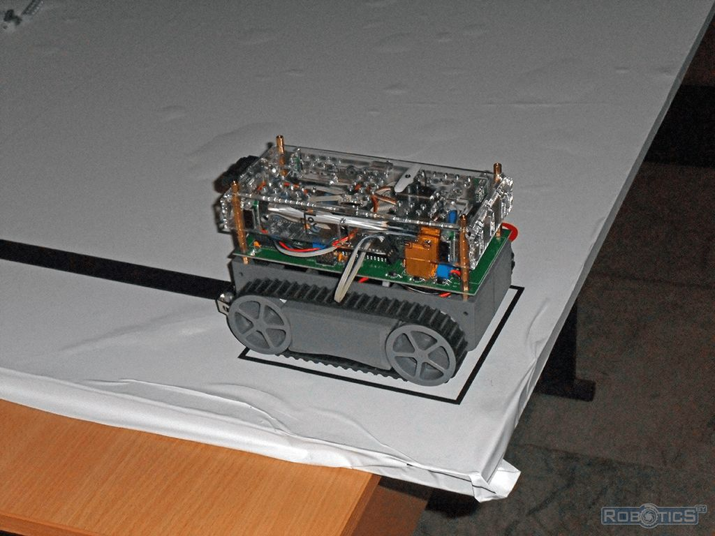 Start tracked robot at competitions «Line».