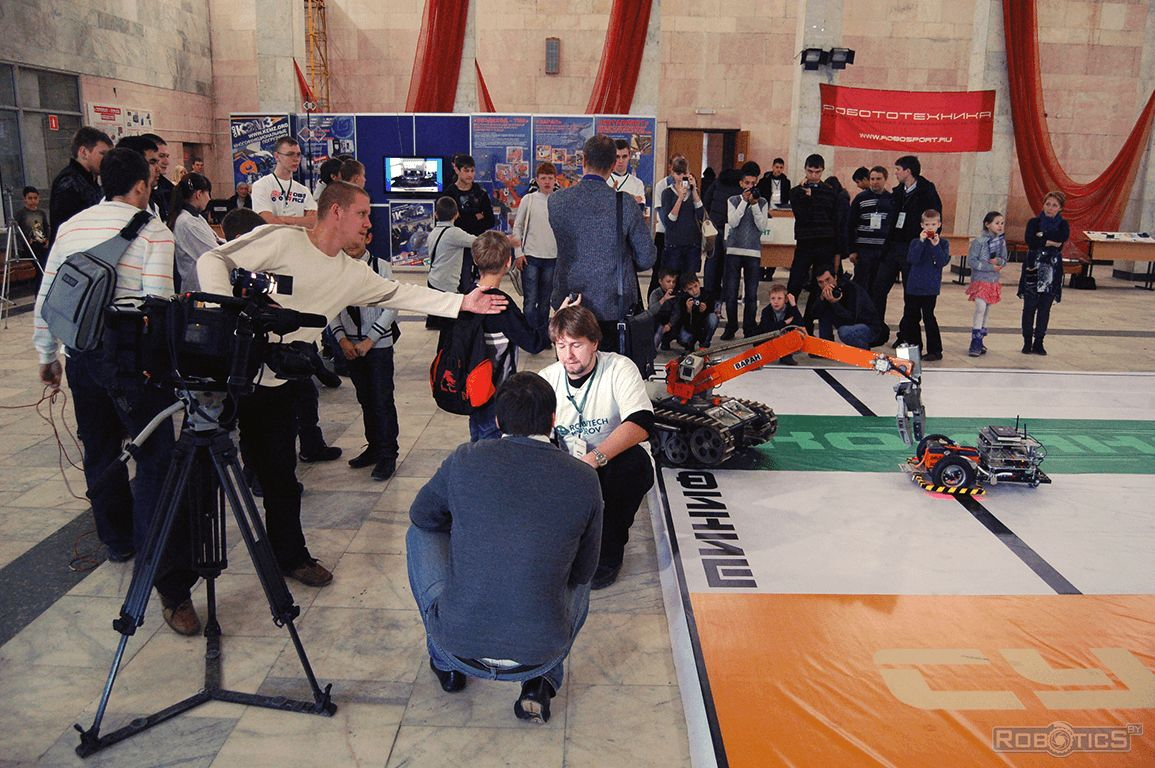 Reporting about robots festival of robotics and high technology «ROBOTECH KOVROV».