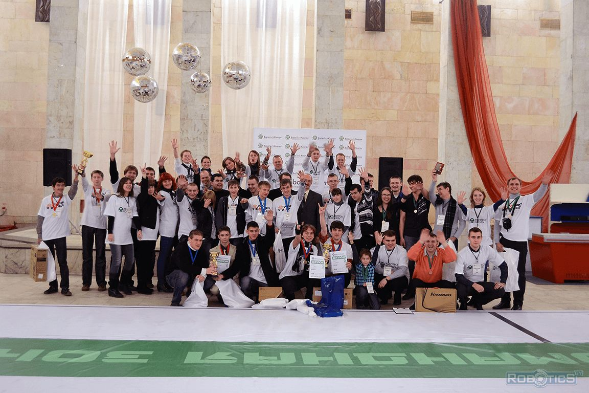 Total photo on the memory of winners of the international festival of robotics and high-tech «ROBOTECH KOVROV».