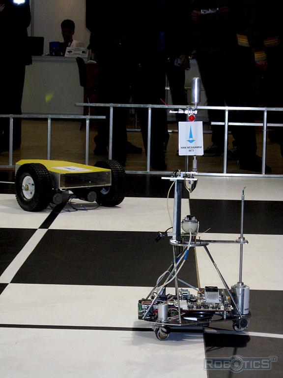 Robot for driving under the Research Institute of Mechanics, Moscow State University.