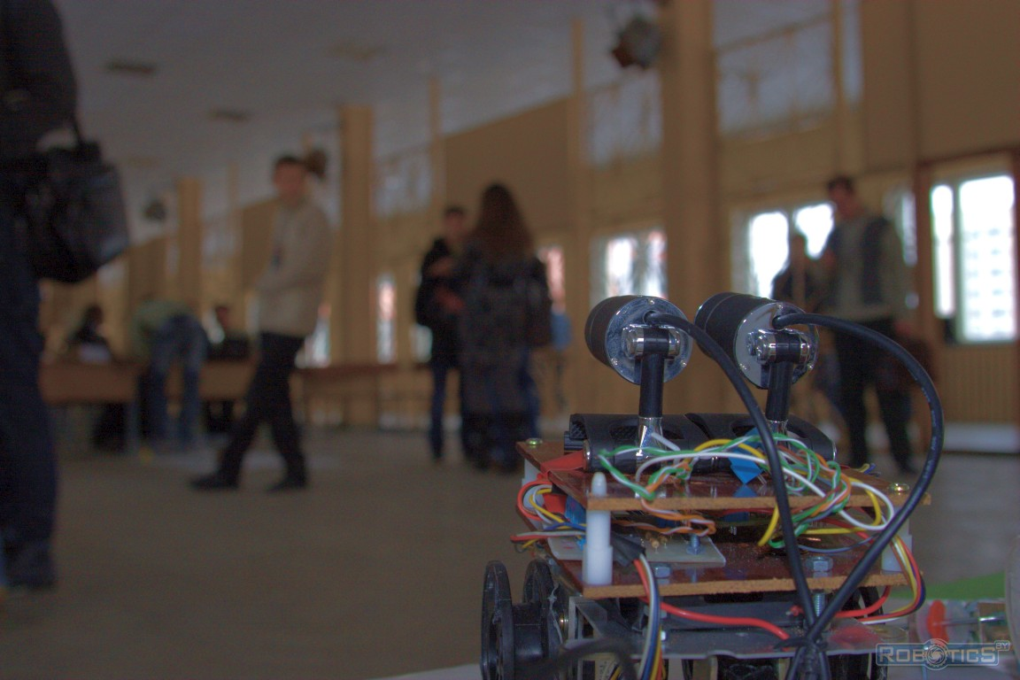 Participants of the open workshop on robotics in Brest city.