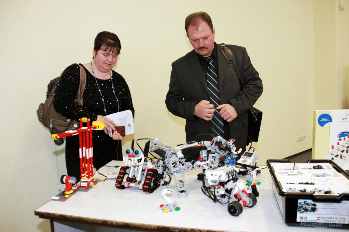 Acquaintance additional education teachers with robotic kits LEGO® MINDSTORMS® EV3