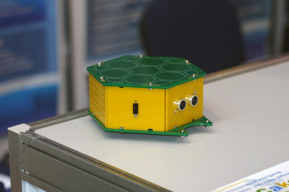 TurtleBot - an example of an autonomous robot assembled from the training constructor RoboCake Beginner