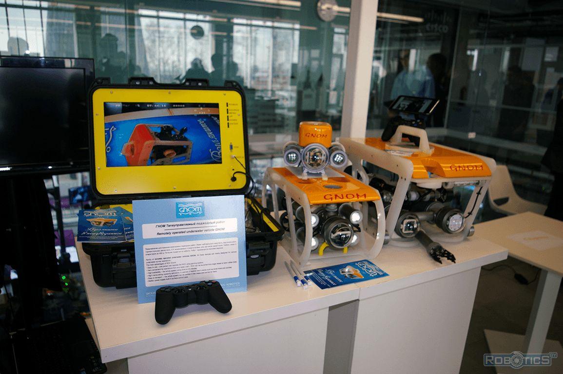 Remote-controlled underwater robot GNOM.