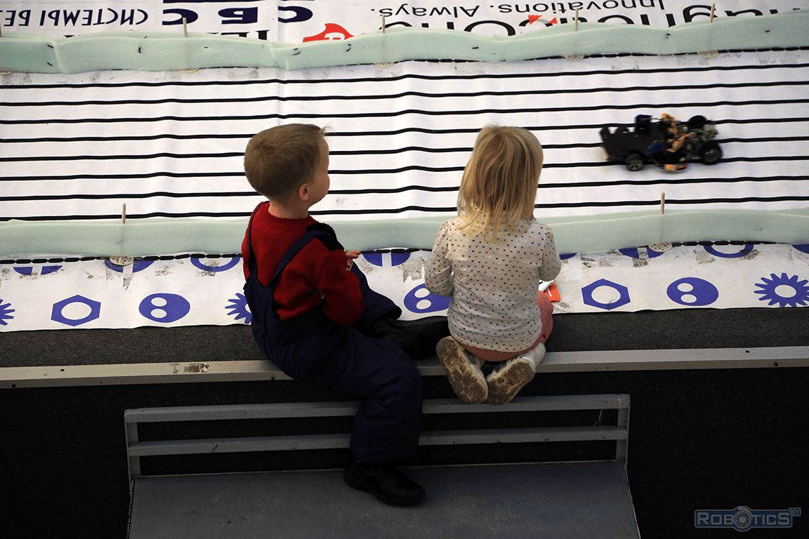 Young spectators of competitions.