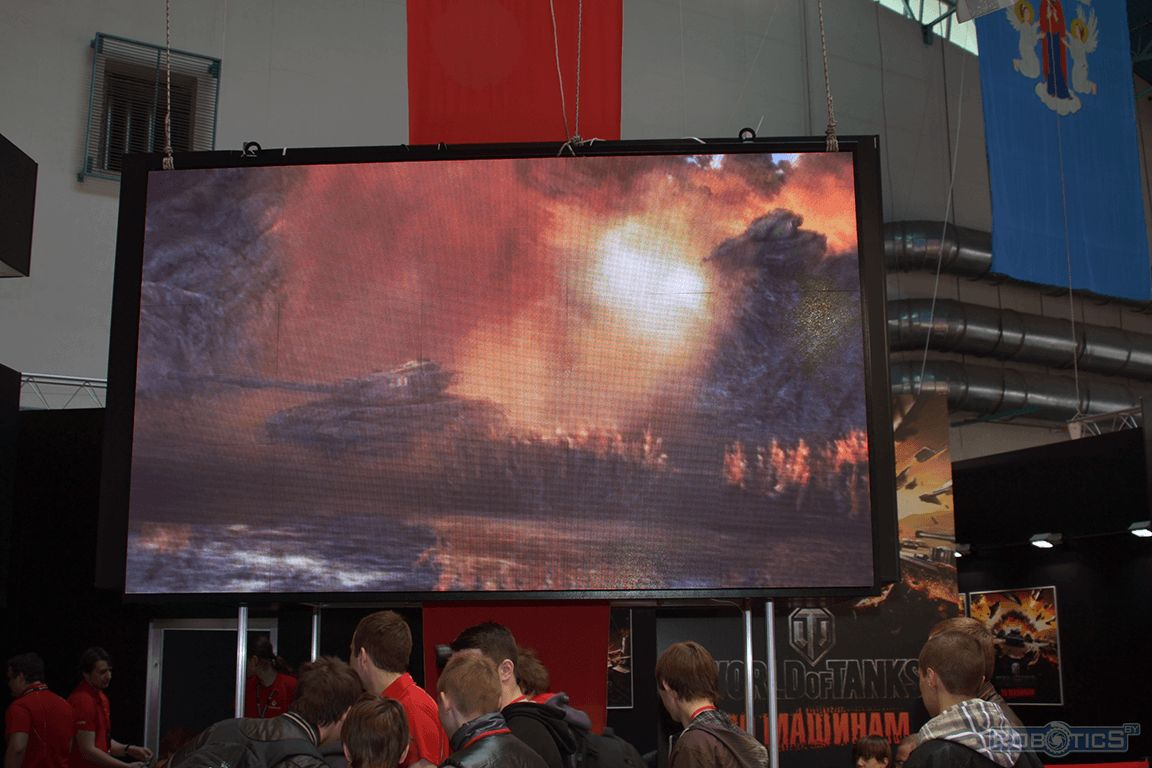 Banner of massively multiplayer online game «WORLD OF TANKS» cyprus company Wargaming Public Company Limited.
