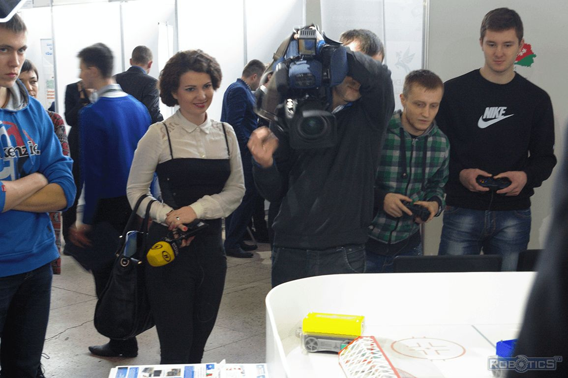 Report on the project «Hockey robots» journalists channel ONT.