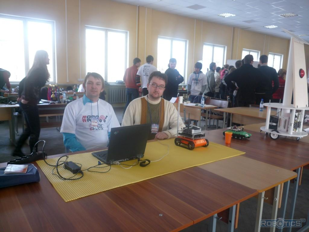 "Participants from the team ""robotics.by""."