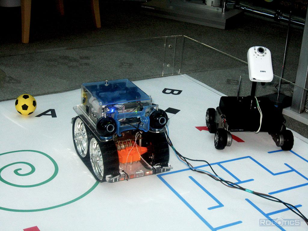 Autonomous mobile robots for monitoring facilities provided at the Youth Innovation Forum «ИНТРИ» – 2010.