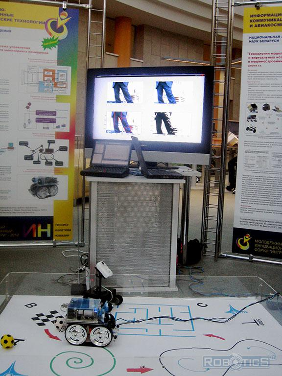 Demonstration of autonomous mobile robots in our laboratory at the Youth Innovation Forum «ИНТРИ» – 2010.