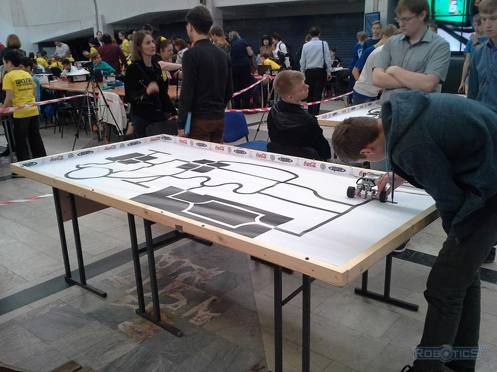 IV Minsk open Robo Tournament - table on competition 'Trajectory'.