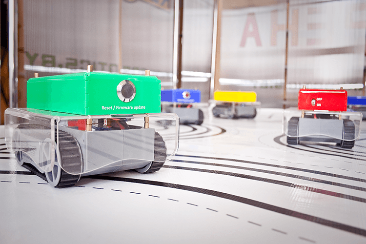 Mobile robots for robotic hockey