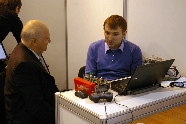 Discussion of robots for educational complex of robotics with the author Качера Бровина